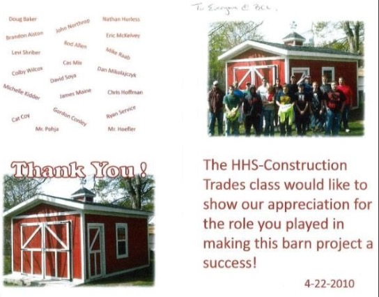 HHS Construction Trades Class