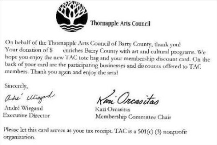 Thornapple Arts Council